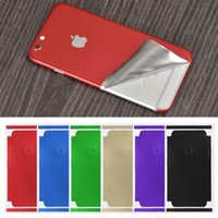 Wholesale Metal Decals - Luxury Film Wrap Decal Skin Case Sticker PVC Back Cover For iPhone X 6 7 8 Plus