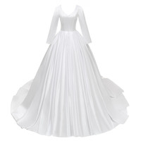 Wholesale long sleeve wedding dresses online - Plus Size Wedding Dresses Long Sleeves Modest Wedding Gowns Ball Gown Fall Winter Bridal Gowns Cheap Custom Make