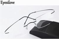 kadın için titanlı titanyum gözlük çerçeveleri toptan satış-Ultra-hafif marka Siluet yeni çerçevesiz optik gözlük çerçeveleri kadın erkek gözlük çerçeve titanyum çerçevesiz gözlük çerçeve miyopi çerçeve