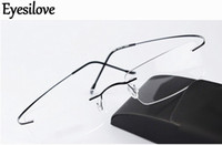 óculos sem titânio sem aro venda por atacado-Ultra-light marca nova silhueta sem aro óptico armações de óculos mulheres homens óculos de armação de titânio sem aro óculos frame miopia quadro