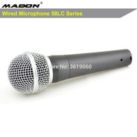 mikrofon 58lc toptan satış-Ücretsiz nakliye, sm58lc kablolu dinamik kardioid profesyonel mikrofon, 58lc sm kablolu mikrofon