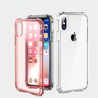 Wholesale Transparent Back Cover For Mobile - Transparent Air Cushion Shockproof Design TPU Material Mobile Phone Cases For iPhone X 8 7 6 6S Plus Samsung S8 S9 Plus Note 8 Back Cover