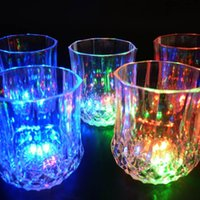 Wholesale flashing drink cups resale online - Distinctive Flashing Led Wine Glass Light Up Barware Drink Cup For Party NEW