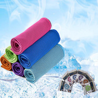 Wholesale Outdoor Sweat Towel - Magic cold towel sports exercise fitness sweat summer outdoor ice cool towel hypothermia 90x30cm super cooling towel