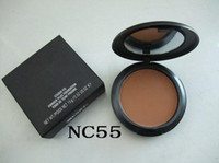 Wholesale sales block for sale - Group buy Hot sale Foundation Brand Makeup Face Powder Cake Easy to Wear Face Powder Blot Pressed Powder Sun Block Foundation g NC