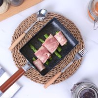 Wholesale high pans resale online - Cookware High Quality Frying Omelet Fried Eggs Square Pan Aluminum Non Stick Omelet Pancake Mini Cooking Fried Frying Grill Induction