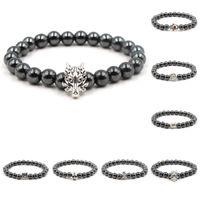ingrosso monili del braccialetto del drago-Buddha Bracciale Uomo Bracciale per donna Dragon 8mm Stone Beads Elastic Braslet Mens Jewelry