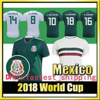 Wholesale R H - 2018 World Cup Mexico Soccer Jersey CHICHARITO H. LOZANO G. DOS SANTOS R. MARQUEZ A. GUARDADO M. LAYUN home national team Footba
