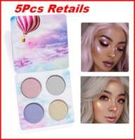 mineral göz farı paleti toptan satış-Marka Makyaj Parlak Işık Göz Farı Paleti 4 Renk Çıplak Balsam Mineraller Toz Pigmentler Kozmetik Glitter Göz Farı Makyajı Verici bea494