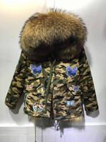 Wholesale big design coats for sale - Group buy Meifng Baby style XS XL European and American big scorpion fur collar fur short Parker coat Fox fur liner camouflage coat