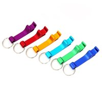 Wholesale best bottle opener ring for sale - Group buy Metal Aluminum Stainless Steel Alloy Keychain Key Chain Ring With Beer Bottle Openers multiple colors Multifunction Tool best