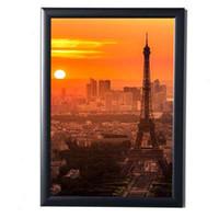 rücktisch großhandel-Schwarzer Simulations-hölzerner Tabellen-Foto-Rahmen-Bild A4 Rahmen kompletter Rahmen mit Glasfaserplatten-Rückseite