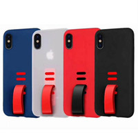 silicone buckles Canada - For iphoneXS Max of mobile phone case small tail 6 7 8plus protection set silicone TPU buckle whole package of grinding factory wholesale pr