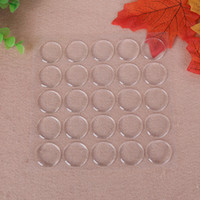 resin epoxy circle NZ - Vovotrade 50pcs Round 3D Crystal Clear Epoxy Adhesive Circles Bottle Cap Stickers Resin Patch Dots For Bottle Caps Crafting DIY