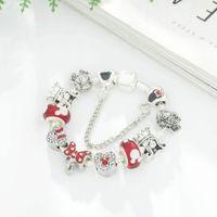 Wholesale pandora animals for sale - 18 CM Charm Beads Bracelet Silver Pandora Bracelets For Women as a gift Diy Jewelry with logo box