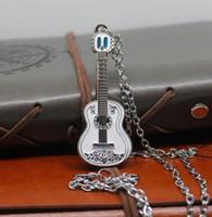 pendant de moda da guitarra venda por atacado-Filme COCO Guitarra Pingente de Colar de Jóias de Moda Masculina Música Dog Charme Colar para As Mulheres Presente Do Favor Do Casamento