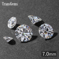 Wholesale labs testing for sale - TransGems mm Carat GH Color Certified Lab Grown Diamond Moissanite Loose Bead Test Positive As Real Diamond Gemstone