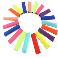 Wholesale kids kitchen tools - 18 cm popsicle sleeve Popsicle Holders Pop Ice Sleeves Freezer Pop Holders Kids Summer Ice Bag Kitchen Organization Tools HH7