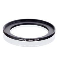 adaptador negro uk al por mayor-Original RISE (UK) 58mm-72mm 58-72mm 58 a 72 Step Up Ring Filter Adapter negro envío gratis