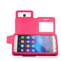 capa giratória universal para telefone polegada venda por atacado-Estojo universal Flip casos Geral Push-Pull Ver Janela PU capa de couro para 3.5-6.0 polegadas telefone iphone 7 LG G4 G5 google PIXEL HTC