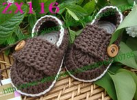 Wholesale free crocheted baby booties online - 10 pairs Baby crochet shoes infant snow booties kids cute handmade M mix colors custom