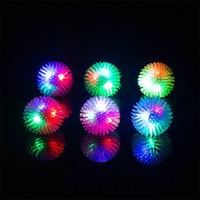 Wholesale free running flash - 2018 Fashion Cartoon Flashing Ring For Adult Children Soft Silicone Ring Lamp LED Kids Finger Toy 1 1yc X