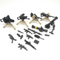 Wholesale Diy Weapon - DIY WW2 Army Military SWAT weapon Guns Mini Soldiers Figures Building Blocks Brick Figures Model Toys for Children