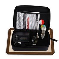 Wholesale electric nail dab rig online - Portable Titanium enail Electric dab nail PID Temperature Control E Nail Dnail kit wax vaporizer MM MM oil rig glass bongs