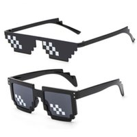 Wholesale wholesale pixel sunglasses for sale - 2018 New Sunglasses Mosaic Glasses Loading Anime Culture Animation Artifact Pixel Code Pixel Thug Life Glasses