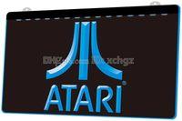 cadeaux commerciaux achat en gros de-[F916] Cadeau pour logo PC Logo Atari-Game NOUVELLE gravure 3D Signe lumineux à LED Personnaliser à la demande 8 couleurs