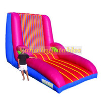 Wholesale play free kid games for sale - Group buy Human Sticky Wall Commercial PVC Inflatable for Kids and Adults Bouncy Jumper Sport Games with Blower