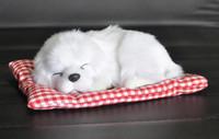 Wholesale dog toy car decoration resale online - Car Ornament ABS Plush Dogs Decoration Simulation Sleeping Dog Toy Automotive Dashboard Decor Ornaments Cute Auto Accessories