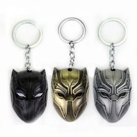 Wholesale marvel comics gifts - 20PC Lot DC Marvel Comics Black Panther Keychain For Men Superhero Captain America Civil War Llavero Metal Key Chain Jewelry Gift