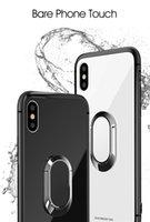 fall iphone neues produkt großhandel-Neuer Fall des ausgeglichenen Glases für iphone, magnetisches Gehäuse des Autohalteringes, Glaskasten für iphone6 / 6s / 6splus / 7 / 7plus / 8 / 8plus / X.High-End-Produkte.