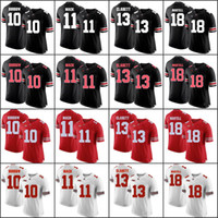 Custom College 7 Dwayne Haskins Jersey Men Football Ohio State Buckeyes 2  JK Dobbins 83 Terry McLaurin 14 KJ Hill Youth Red Black White fd6b73a63