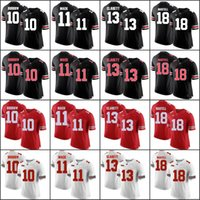 ingrosso pullover nero personalizzato di calcio-Personalizzato 2018 Ohio State Buckeyes Bianco Grigio Nero Camo Jersey Haskins Jr. George Dobbins Rosso OSU College Football Cucito qualsiasi numero Nome