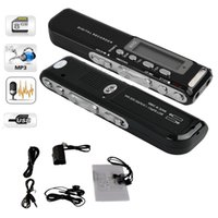 ingrosso registratore attivato-8GB Digital Voice Recorder Voice Activated USB Pen Registratore audio digitale Lettore mp3 Dittafono Nero gravador de voz