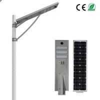 Wholesale solar panel roads - PIR motion Sensor W Integrated Led Solar Street Light Waterproof LED Road Light Light Sensor Mono Solar Panel Outdoor Lamp