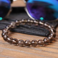Wholesale beads brown 8mm resale online - women Bracelet stone Brown crystal mm bead Stretch yoga men bracelet Stone Natural Male Female Simple Strand Bracelets Classic