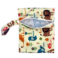 Wholesale other storage - Baby Diaper Bags Nappy Stackers Bags Waterproof Diaper Organizer Portable Zipper Infant Stroller Cart Bags Wet Dry Cloth Storage Bag