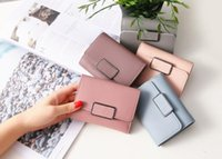 Wholesale handmade leather card wallet - Tyeer@ Women Wallet lady short wallet simple checkered fashion handmade wallet