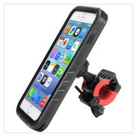 fahrradhalterung großhandel-Unterstützung Wasserdichte Tasche Fahrradhalterung Vollständig Geschlossene Fahrrad Handyhalter Halterung Navigation Für iPhone 7 Plus 5