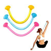 corda de geléia venda por atacado-Multifuncional Portátil Silicone Elastic Pull Corda Geléia de Fitness Yoga Auxiliar Chest Stretch Belt Bandas de Resistência