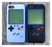 étuis iphone pour garçons achat en gros de-Console Tetris Gameboy Coque pour iPhone 6 6s 7 8 6 Plus X Couverture Rétro Game Boy Souple TPU Silicone Téléphone Capa