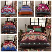 Wholesale printing 3d bedding set online - 11 Styles set Bohemian Style Quilt Cover Set Cartoon Boho Comforter Bedding Sets Bohemian D Printed Bedding Sets CCA10514 set