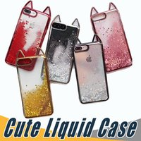 Wholesale defender case iphone 6s plus - Cute Glitter Liquid Case Fashion Quicksand Robot Defender Cases Cover For iPhone X plus S Plus