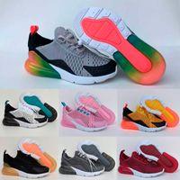 erkek kızlar gündelik beyaz ayakkabılar toptan satış-Gökkuşağı 270 çocuk ayakkabıları erkek kız bebek çocuk için boost beyaz mavi gri Hava Rahat ayakkabılar Eur28-35