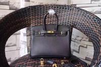 ingrosso sacchetto di spalla di cuoio genuino di grande marca-35CM 30CM 20CM Grande Marca Tracolla Borse Borse Crossbody borse di lusso delle donne del cuoio genuino della pelle bovina Fashion lady all'ingrosso della fabbrica