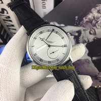 Wholesale power reserve casual watches online - High Quality Luxry New Classique BR V6 White Dial Automatic Mechanical Mens Watch Silvery Case Leather Strap Casual Watches