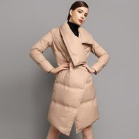 Wholesale female goose - Winter Jackets Women 2017 New Fashion High Quality Female Casual Long Parka 90% White Goose Down Jacket Thick Warm Winte Coat